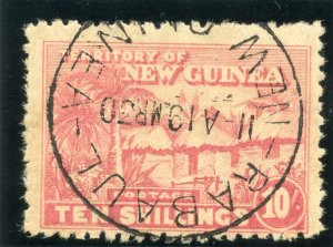 New Guinea 1925 KGV 10s dull rose very fine used. SG 135. Sc 12.