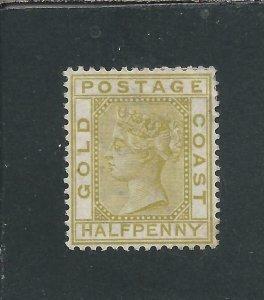 GOLD COAST 1883 ½d OLIVE-YELLOW MM SG 9 CAT £275