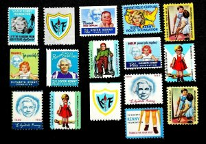 Sister Kenny Foundation Vintage U.S. Charity Stamps Lot of 16 Polio Minneapolis