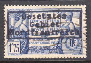 FRANCE 332 GERMANY OCC DUNKIRK NORDFRANKREICH LOCAL OVERPRINT CDS VF SOUND