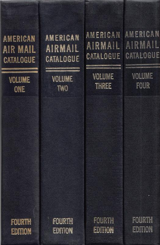 American Air Mail Catalogue, 4th Edition, cplt set, SPONSOR'S EDITION, used