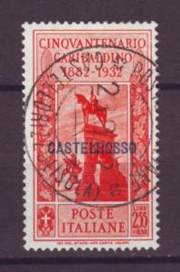 J21201 Jlstamps 1932 italy castellorizo used #88 ovpt