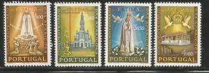 PORTUGAL 997-1000  MNH, 50TH ANNIV., APPARITION OF OUR LADY OF FATIMA, VIRG MAR