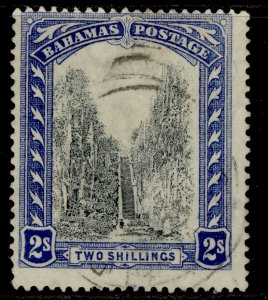 BAHAMAS GV SG113, 2s black & blue, FINE USED. Cat £22.