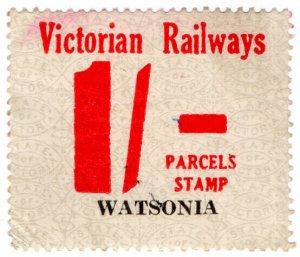 (I.B) Australia - Victoria Railways : Parcels Stamp 1/- (Watsonia)