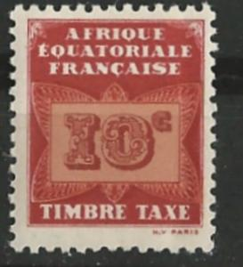 French Equatorial Africa # J2  Postage Due - Butterfly 10c (1) Unused VF