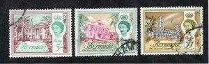 Bermuda - SG# 177 - 179 Used / High Values  -   Lot 0720199