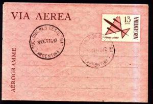 AARG-30 ARGENTINA 1979-80 AEROGRAMM 13 PESOS CANCEL QUILMES NOT ADRESSED