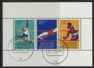 Netherlands Antilles 1981 cancelled Sport Sheet