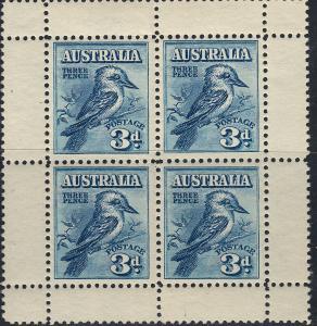 AUSTRALIA 95A 3p Sheet, VF NH (41719)