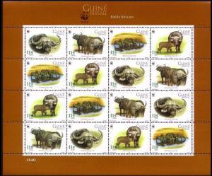 Guinea-Bissau WWF African Buffalo Sheetlet of 4 sets SG#1351-1354 MI#2009-2012