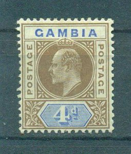 Gambia sc# 33 (2) mh cat value $10.00