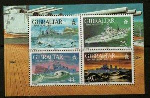 1994   GIBRALTAR  -  SG. MS 724 - WARSHIPS (2) -  UNMOUNTED MINT