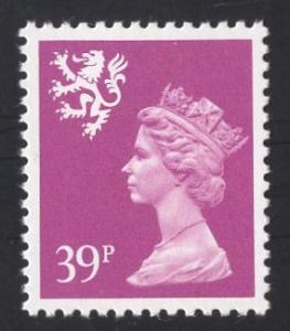 Great Britain Scotland  #SMH62  13 1/2 x 14  MNH  Q E II  39p. Machin