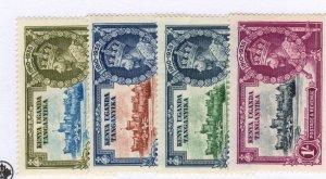 Tanganyika #42-45 MH CAT VALUE $8.25