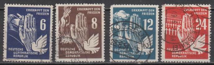 East Germany - DDR - 1950 Fight for Peace Sc# 71/74 (8929)