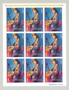 Mongolia #2334 Carlos Santana, Music 1v Imperf M/S of 9