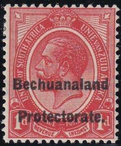 Bechuanaland 1922 SC AR3a MLH Double Overprint