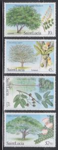 St Lucia 649-52 Trees Mint NH