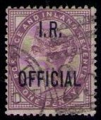 Great Britain  Sc #O4 Used Overprint I.R. Official VF