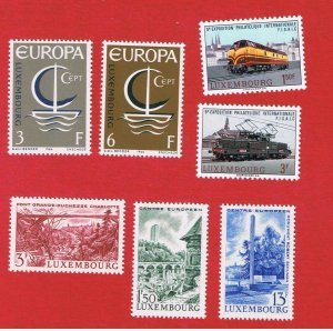 Luxembourg #440-446  MNH OG  Europa plus others  Free S/H
