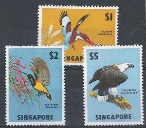 Singapore 1962 $1 - $5 sg75-7 fine mint cat £45