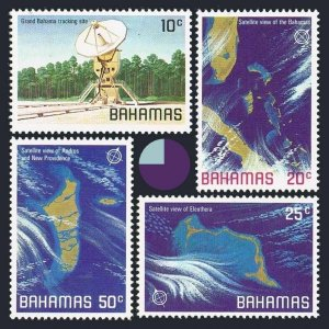 Bahamas 486-489,MNH.Michel 476-479. Space themes,Satellite views,1981.