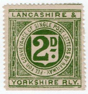 (I.B) Lancashire & Yorkshire Railway : Letter Stamp 2d