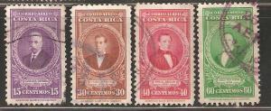Costa Rica  Used. Set of four