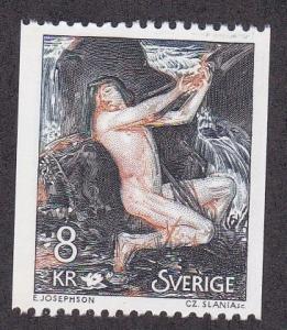 Sweden # 1340 Painting Necken by Josephson, NH, 1/2 Cat.