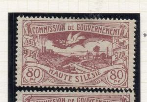 Silesia 1000 Early Issue Fine Mint Hinged 80pf. 215676