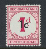 Bechuanaland Postage Due SG D7  Type I   Mounted Mint