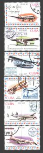 Cuba. 1977. 2248-53. Planes, stamps on stamps. USED.