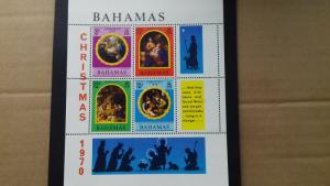 Bahamas 1970 Christmas Issues Mint