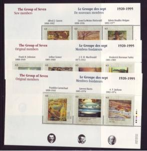 Canada Sc 1559-61 1995 Group of 7 Paintings stamp sheet mint NH