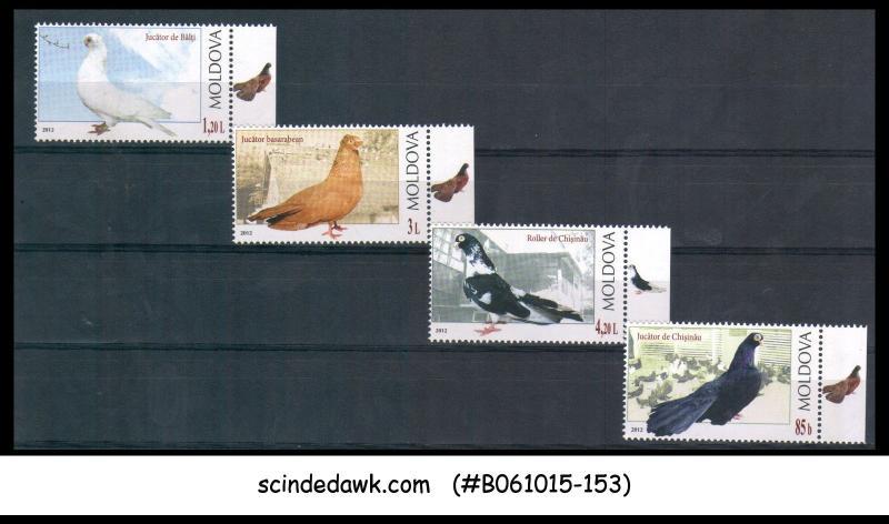 MOLDOVA - 2012 BIRDS / BIRD - 4V - MINT NH