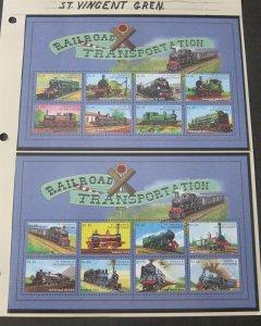 St Vincent 1998 Sc 2596-7 Train MNH