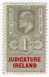 (I.B) Edward VII Revenue : Judicature Ireland 1/- (unlisted colour)