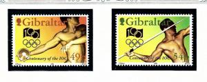 Gibraltar 666-67 MNH 1994 Olympics