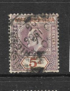 NORTHERN NIGERIA 1905   5d   KEVII   FU   SG 24