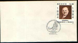 MEXICO 1361 FDC Cent of the birth of Gen Francisco J. Mugica