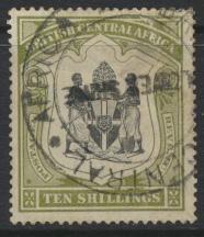 British Central Africa    SG 50a SC# 52 Used / FU Fiscal cancel see details