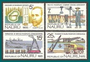 Nauru 1975 Phosphate Mining, mint #120-123,SG129-SG132