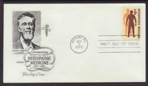 US Osteopathic Medicine 1972 Artmaster U/A FDC BIN