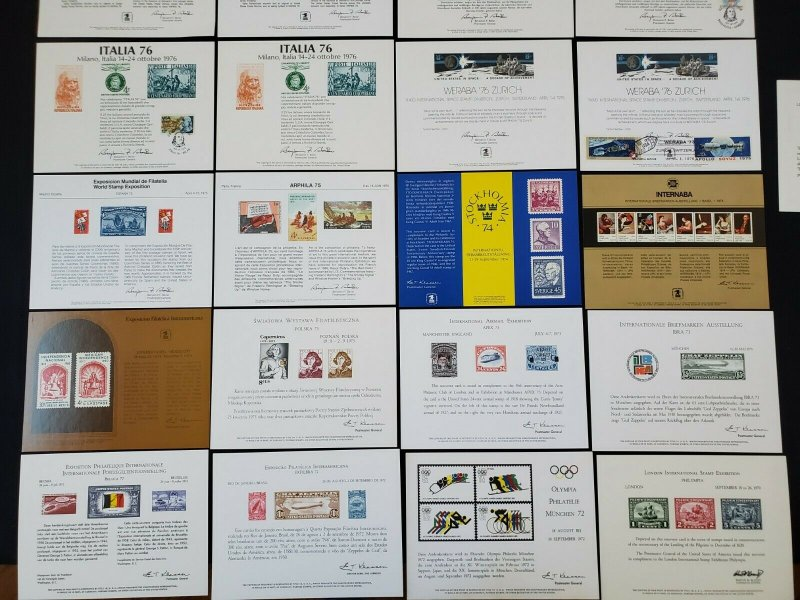 US 1970-1979 USPS Souvenir Cards Some with Cancels Mixed Lot of 29