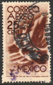 MEXICO C185, 25c 1934 Definitive Wmk Gobierno...279 Used. (944)
