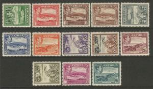 Antigua 1938 definitive set to £1 very lightly mounted mint CV £130+ SG98-SG109