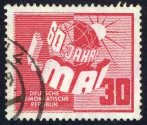 German Democratic Republic Sc# 53 Used 1950 Labor Day 60th