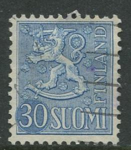 Finland - Scott 323 - Arms of Finland -1954- FU - Single 30m Stamp