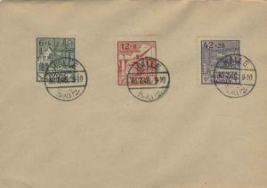 Germany Soviet Zone Saxony 6pf+4pf, 12pf+8pf and 42pf+28pf Rebuilding Semi-Po...